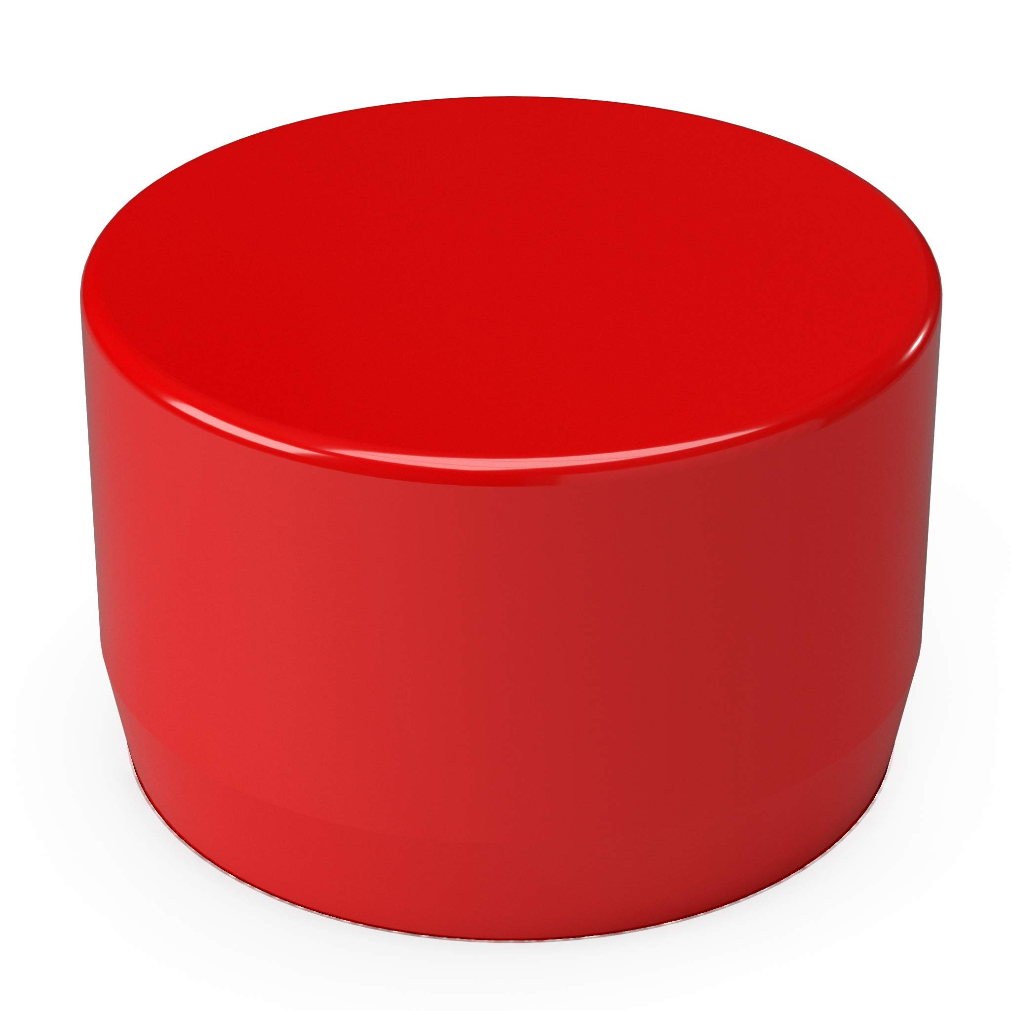 FORMUFIT F114EEC-RD-10 PVC External End Cap, Furniture Grade, 1-1/4'' Size, Red (Pack of 10)