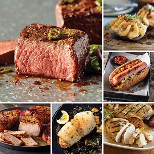 Omaha Steaks Grilling Collection (26-Piece with Top Sirloins, Boneless Pork Chops, Sole Filets Stuffed With Scallops and Crab Meat, Boneless Chicken Breasts, Jumbo Franks, and Stuffed Baked Potatoes)
