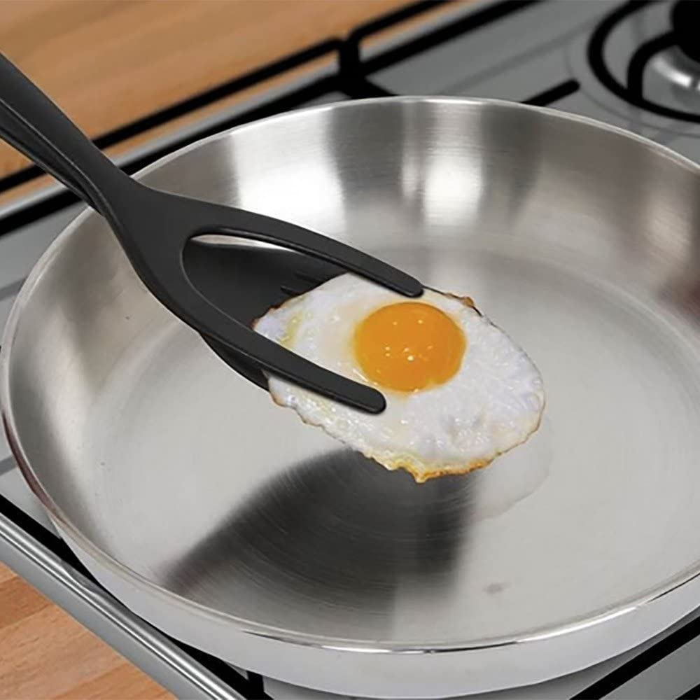 2in1 Grip Flip Pancake Egg Spatula Silicone French Toast Omelet Making Kitchens