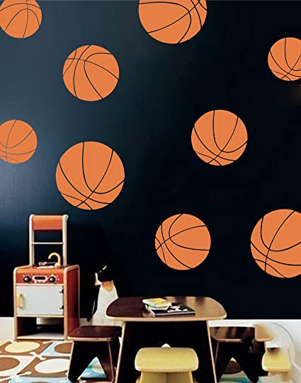 Boys Room Basketball Wall Decals   Room Decor For Kids Removable Sports  Stickers [Set Of