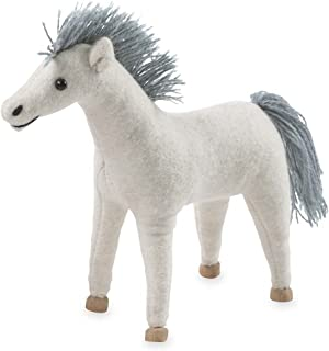 product image for Magic Cabin Felt Pony, White