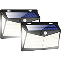 Solar Lights Outdoors 208 LED/3 Modes, Security Motion Sensor Night Lights, Wire-Free, IP65 Waterproof, Solar LED Light…