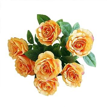 Woddu Blumen Kunstrosen Bunte Falschen Dekoration Hochzeit Haus