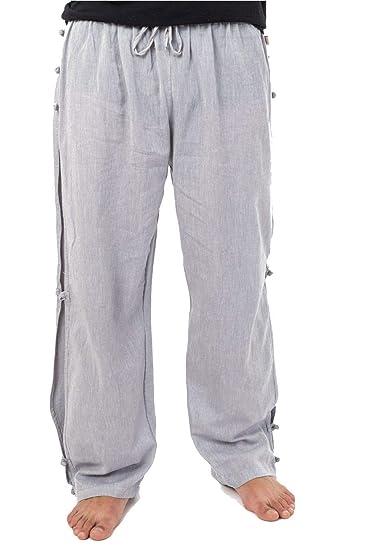 grand choix de b6b8b 7aa7a FANTAZIA Pantalon Japonais Relax Zen Mixte Bouton -