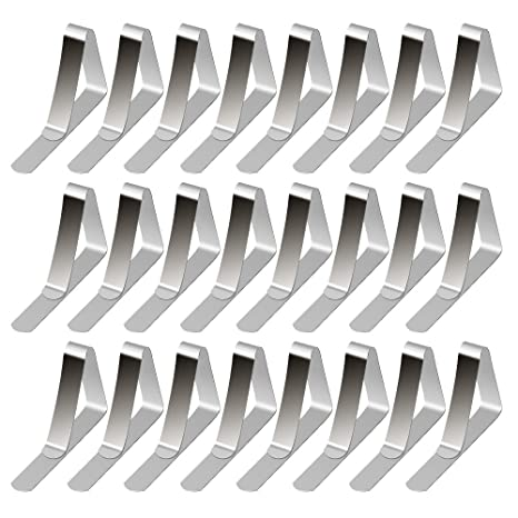36 YOUTENSILS STAINLESS STEEL TABLECLOTH CLIPS 3 PACKS OF 12 EACH NEW