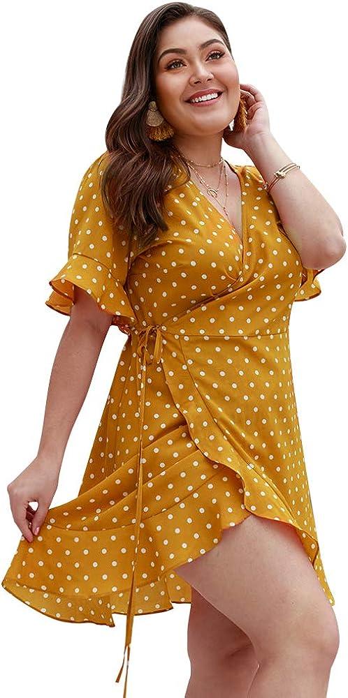 Lover-Beauty Vestido Corto Mujer Verano Vestido Talla Grande ...