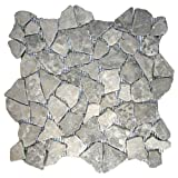 Stone Grey Mosaic Tile 1 sq.ft. (Mesh Mounted)