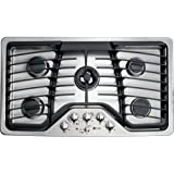 """GE Profile PGP986SETSS 36"""" Gas Cooktop with 5 Sealed Burners"""
