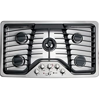 GE Profile PGP986SETSS 36u0026quot; Gas Cooktop With 5 Sealed Burners