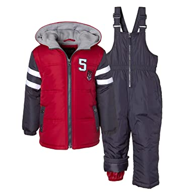 d91db9a56e3a Amazon.com  iXtreme Boys  Snowsuit  2-Piece Camo Print Snowsuit for ...