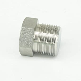 Hex Cap 1//2 Female NPT 304 Stainless Steel Pipe Fitting .5