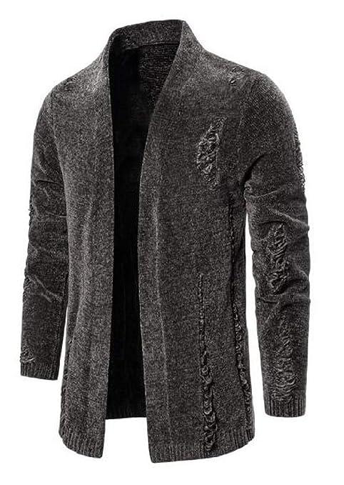 VITryst-Men Autumn Vogue Long-Sleeve Knitwear Cardigan Sweater