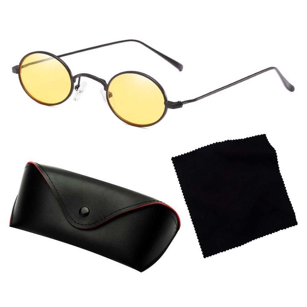 juqilu Oval Sonnenbrille Frauen Vintage Ozean Farbe Objektiv