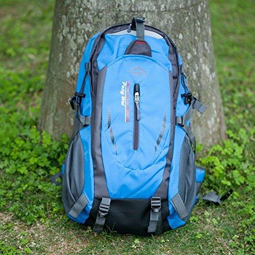pa-ula UK Wasserdicht Outdoor Klettern Reise Rucksack groß Camping Rucksack Tasche Sport, Scool/College, Arbeit. Radfahren Blau