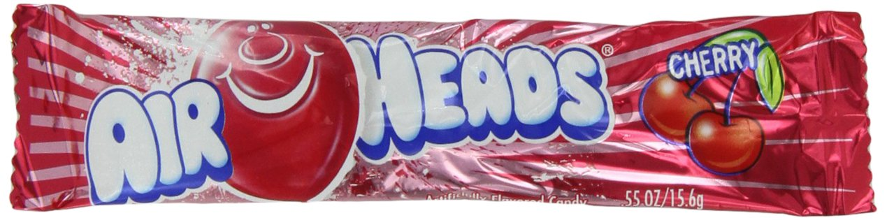 Airheads Cherry, 0.55-Ounce Packages (Pack of 144) by Airheads