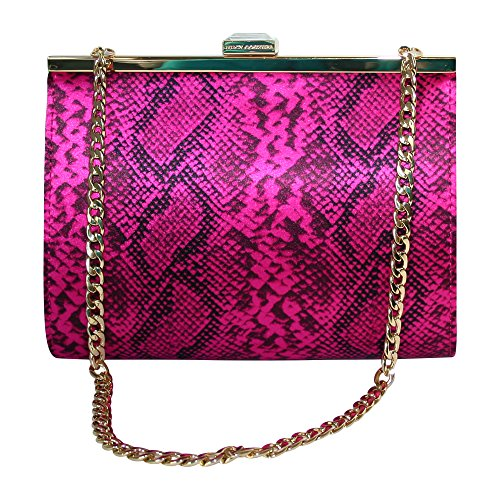 Juicy Couture Hollywood Hills Clutch Miniaudiere Bag, Pink Snake
