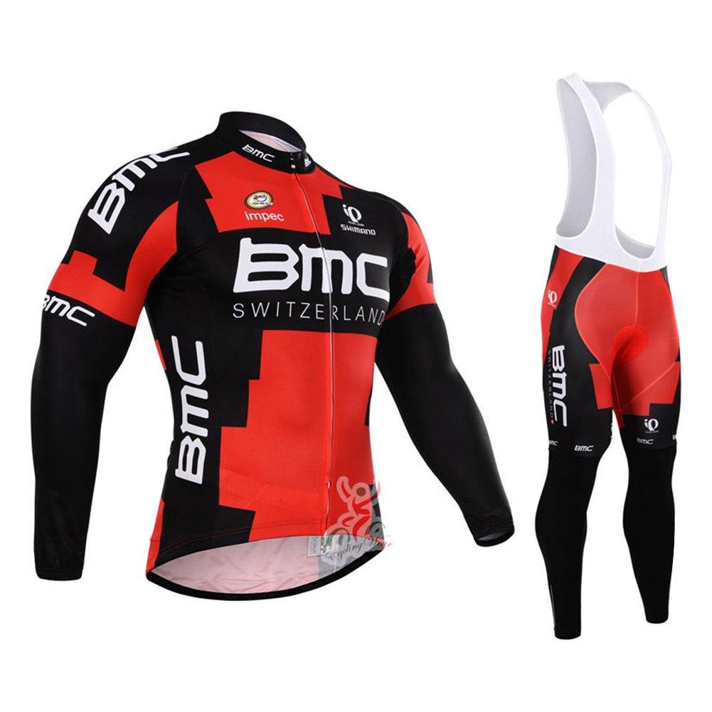 uonoメンズ長袖サイクリングジャージージャケットBibパンツパッド入りスーツ B01EK0J4QG X-Large|Bib Suit n Bib Suit n X-Large