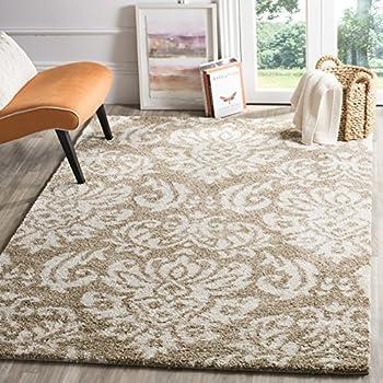 safavieh florida shag collection sg4601311 beige and cream square area rug 4u0027 square