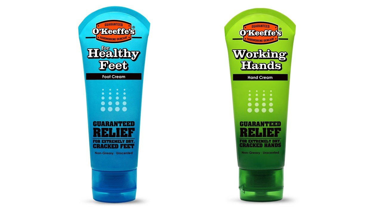 O'Keeffe's Working Hands 3.4 ounce & Healthy Feet 3.2 ounce Combination Pack of Jars O'Keeffe's K0350015