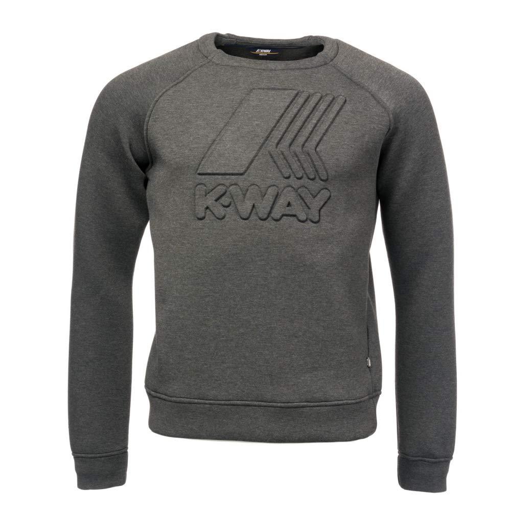 K-Way Augustine Spacer Macro Logo Mens Sweatshirt Grey Md Mel XL