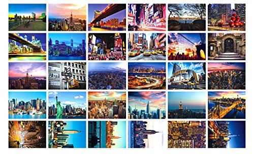 New Collectible Edition! United States travel and American theme postcards. 30 Various NYC New York Postcards 4x6 Inch by Light up in the Dark