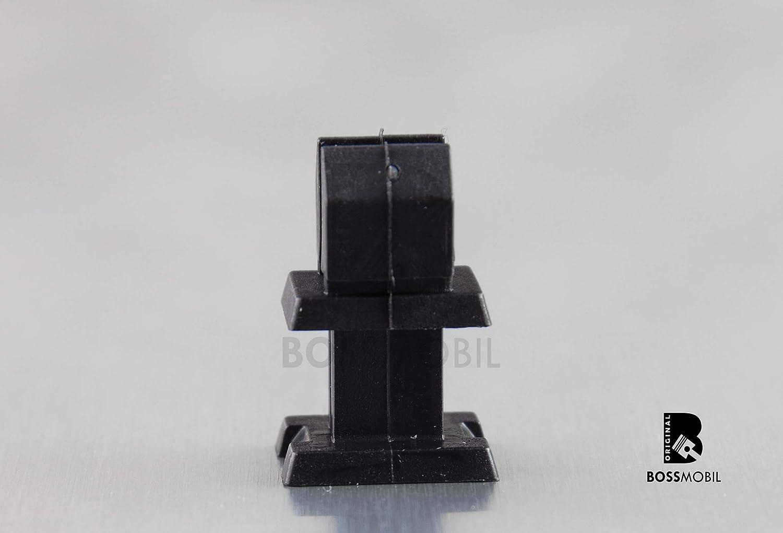 10 St/ück Original BOSSMOBIL kompatibel mit HALTERUNG BEFESTIGUNGSCLIPS INNEN VERKLEIDUNG F/ÜR KLASSE A B C CLK #NEU# 1249900792 152052692372 1249900792 13 X 9 X 9 x 8 mm Menge