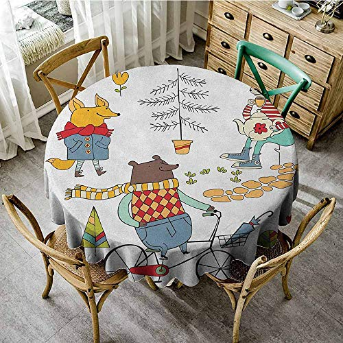 (Printing Round Tablecloth 47