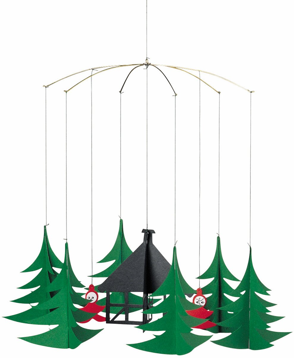 Flensted Mobiles Pixies In The X Hanging Mobile - 11 Inches Cardboard by Flensted Mobiles