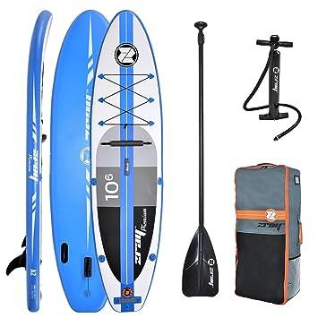 Z-Ray A2 - Paddleboard Hinchable para Touring con Accesorios, 25,4 cm