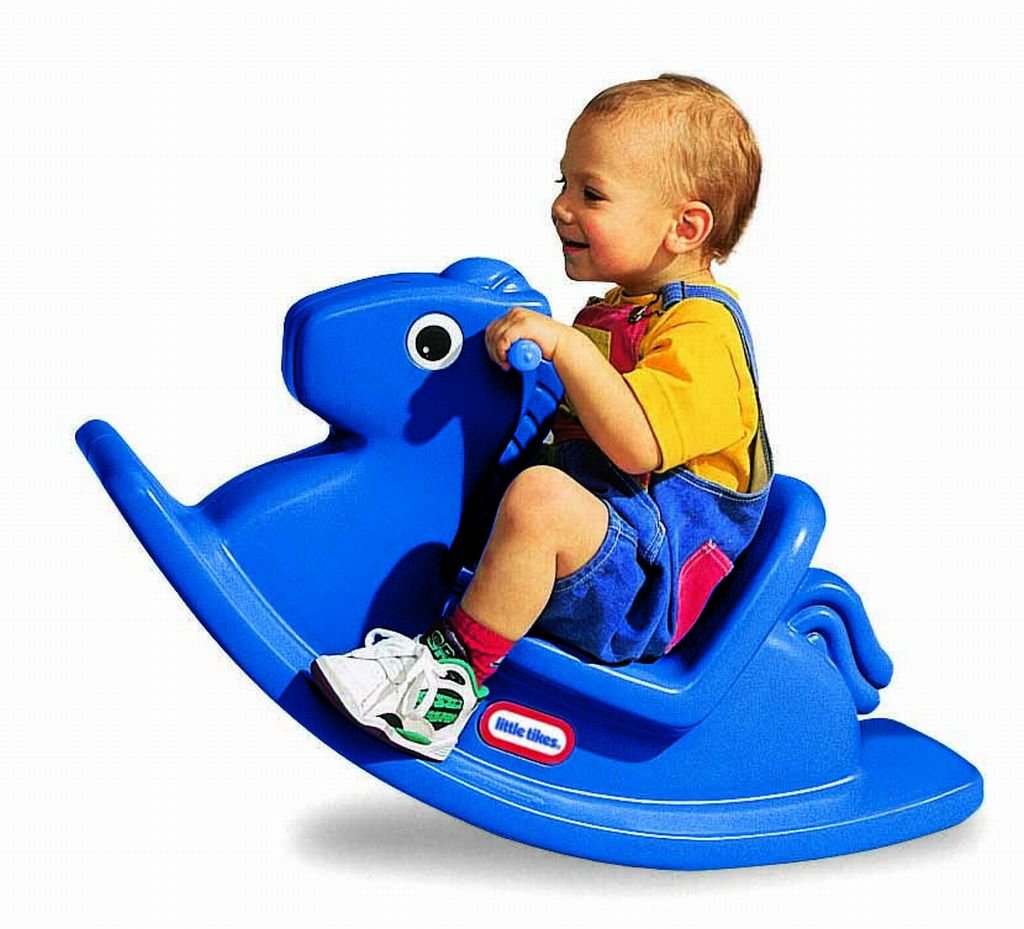 An Image of Little Tikes Rocking Horse Blue