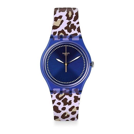 1de9336b354a Swatch Reloj Analogico para Unisex de Cuarzo con Correa en Silicona GV130
