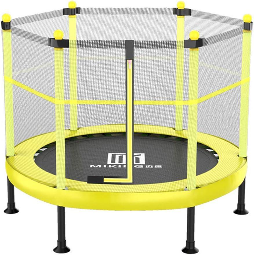 Junior trampolín con recinto de la seguridad neto, interior Actividad al aire libre Diversión Trampolines niños que saltan cama cama de bebé que despide Trampolín Interiores trampolín con ,48in yellow