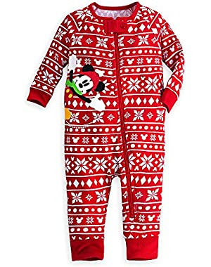 Disney Store Mickey Mouse Holiday Stretchie Sleeper Baby 18-24 Months (18-24m) Red