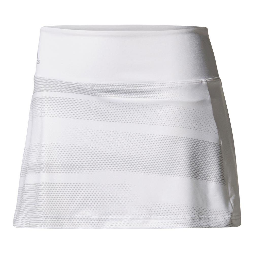 adidas-Women`s Advantage Trend 13 inch Tennis Skirt White and Gray-(191021903613