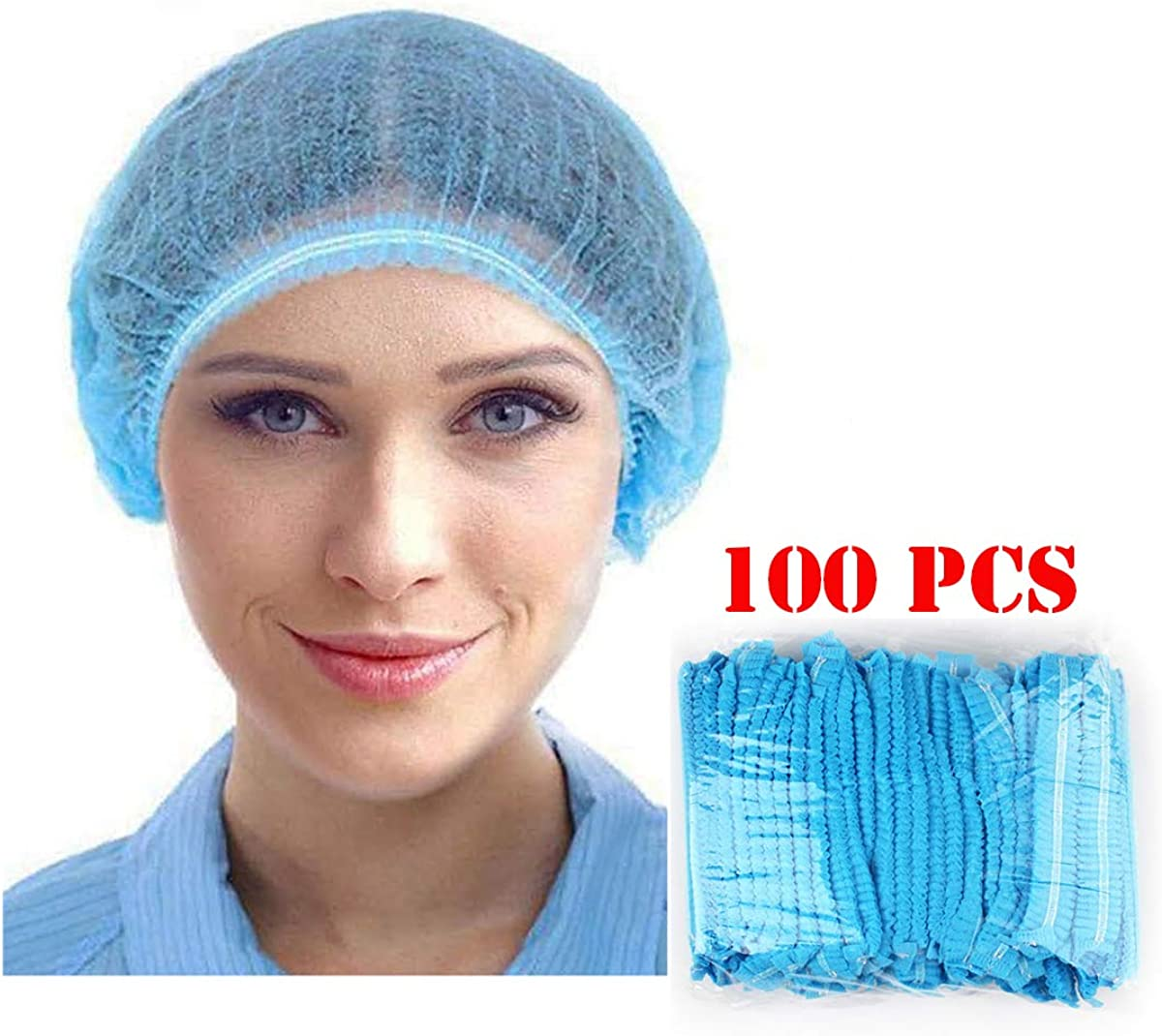 Adjustable Chef Cap Elastic Cooking Hat Food Service Hair Nets Mesh Kitchen Net Reusable Restaurant Bouffant
