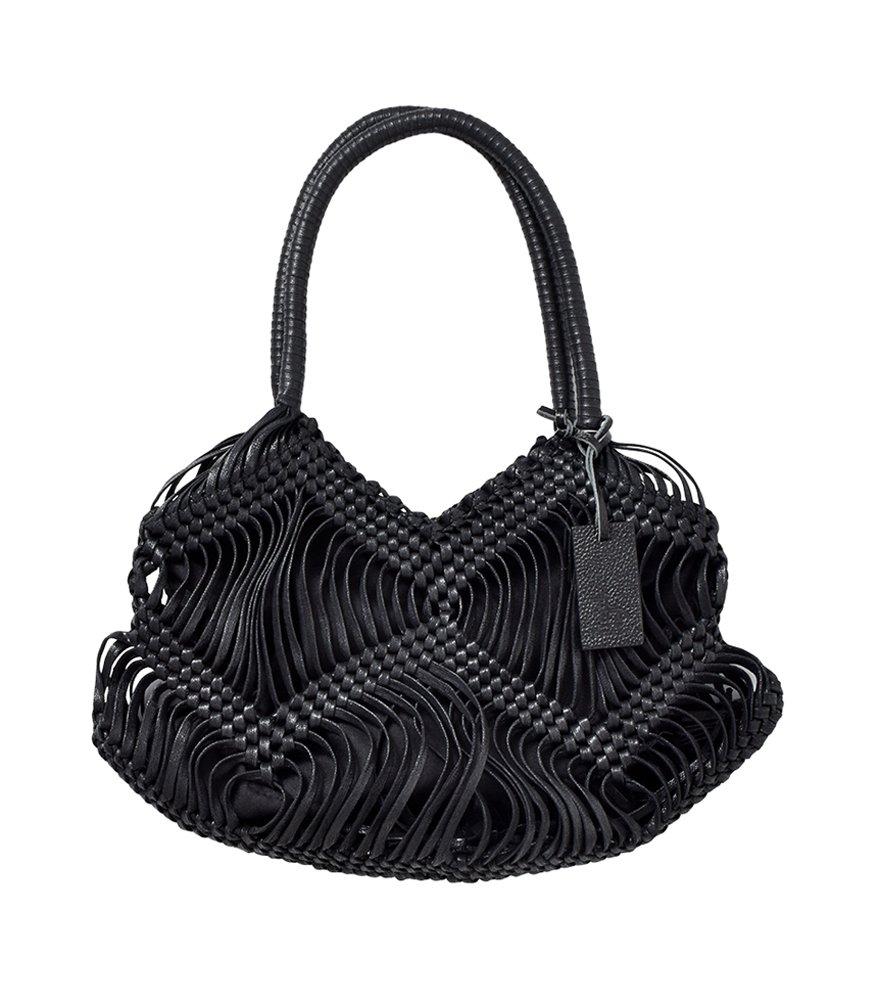 (トレンタセイ) Trenta Sei ロウヒモバッグ 5c-012-0348 B07D54RH5C One Size ブラック ブラック One Size