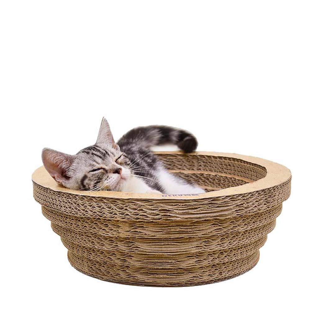 El Tazón De Fuente Grande Forma La Jerarquía del Gato, Papel Acanalado Que Rasguña Los Cojines para Los Gatos, Gato Que El Salón del Raspador Envía La ...