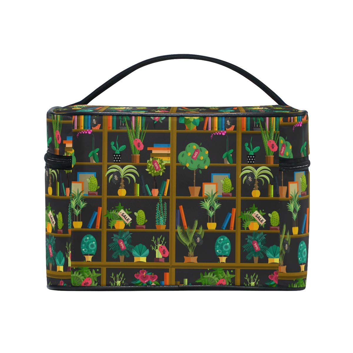 Amazon.com : Cosmetic Bags Flower Stand Cactus Large Travel ...