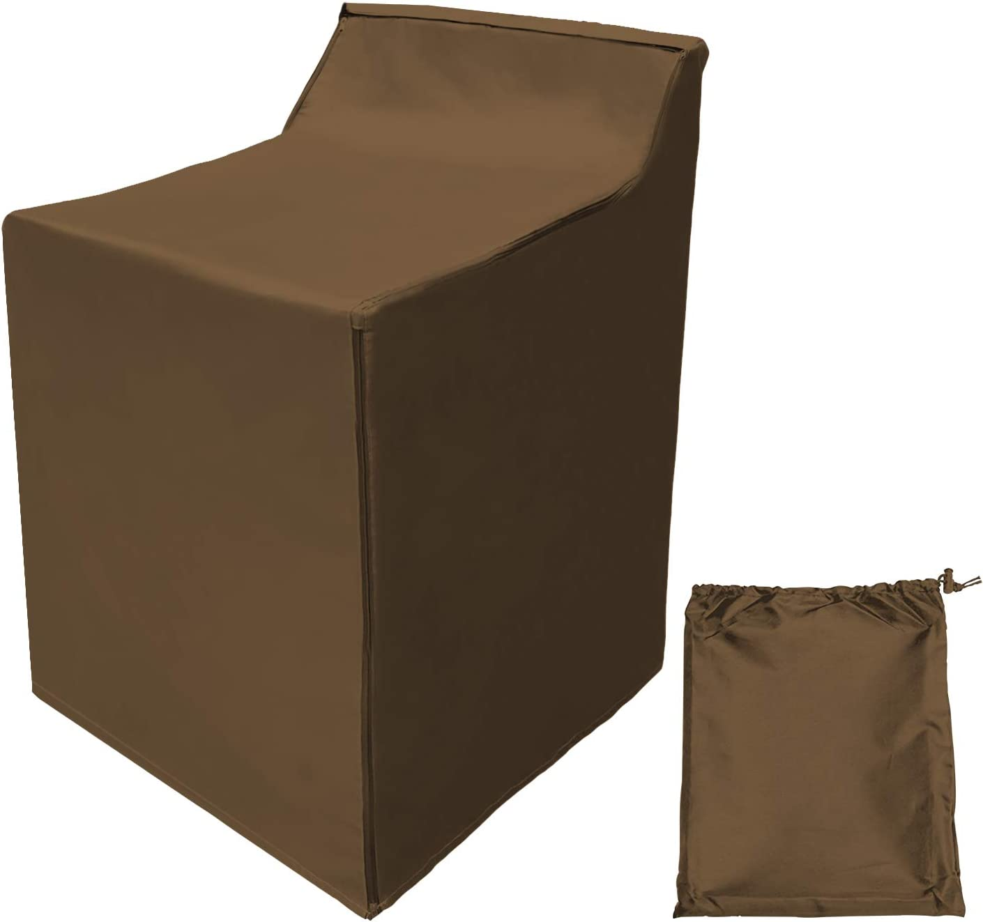 """Covolo Washing Machine Cover,Outdoor/Indoor Washer and Dryer Cover Large 29""""W x 28""""D x 40""""H,Fit Most Top Load or Front Load Washers and Dryers,All Weather Protection khaki Coated"""