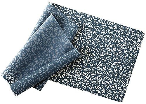 modern-twist Silicone Table Runner, 72'' x 14'', Twine Pattern, Midnight Blue by modern-twist