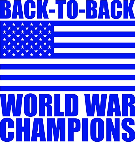 (America Back to Back World War Champs Vinyl Die Cut Decal)