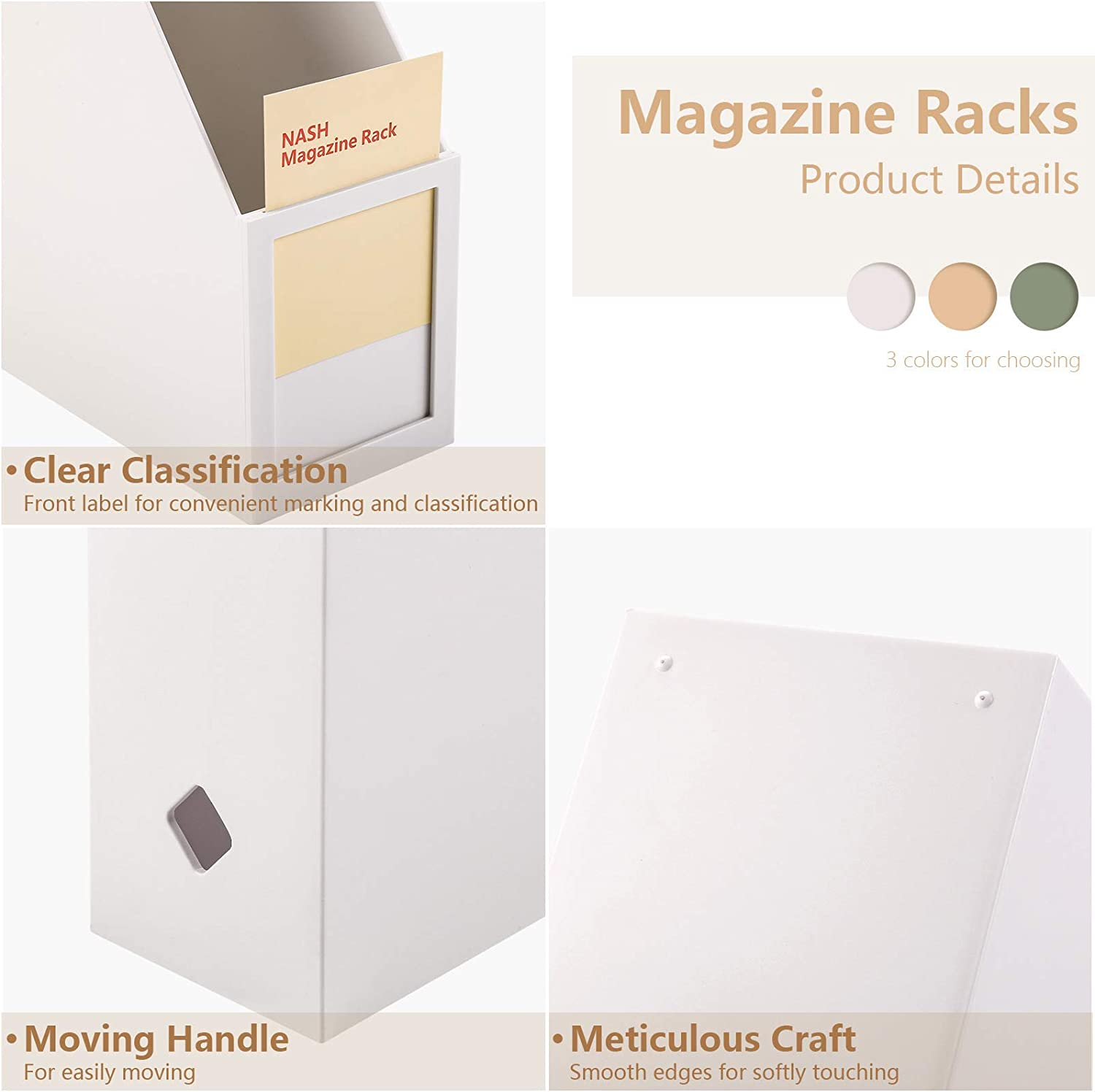 Desk Organizers Magazine Holder Magazine Rack with Label Holder for Desk Organizers and Accessories