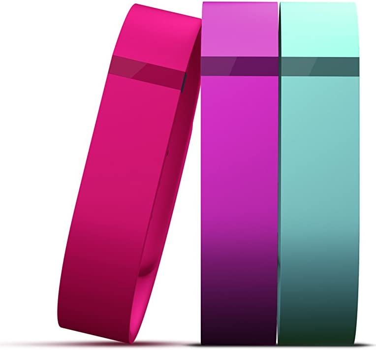 Large GENUINE FITBIT Flex Replacement Bands Teal Metal Clasp Pink Violet