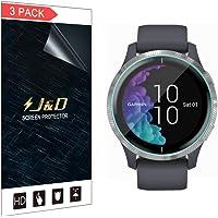 J&D Compatibel voor Garmin Venu (43mm) Screenprotector (Geen Glas), 3-Pack Volledige Dekking Zachte Huid HD Clear…