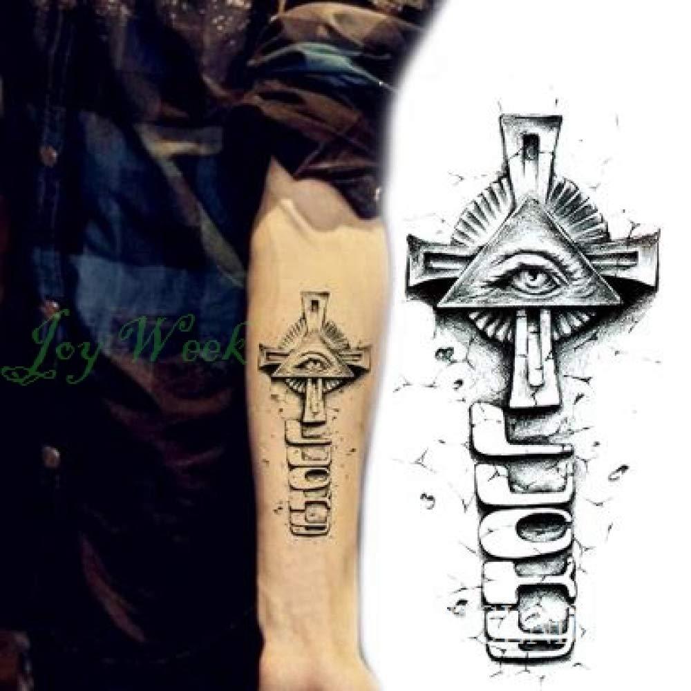 ljmljm 5pcs Impermeable Tatuaje Pegatinas Cruz Tribal Totem Tatto ...