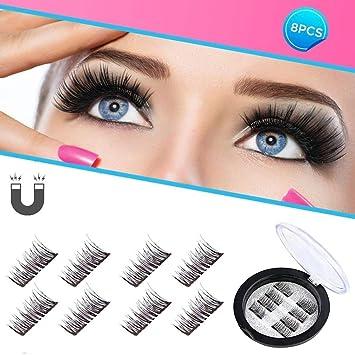 f8fd55043c1 Beatife Magnetic False Eyelashes, 3D Black Dual Magnets Ultra Thin Soft,  Glamorous, Natural