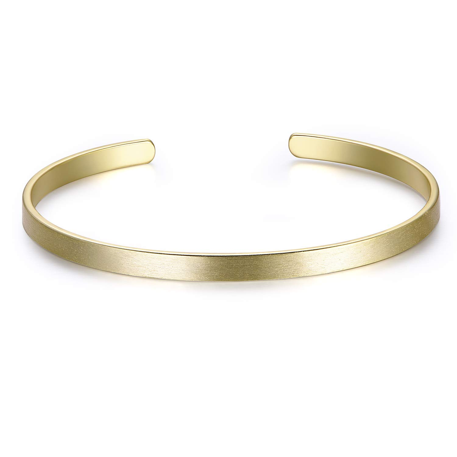 Ofashion Finished Brass Blank Charm Cuff Bracelet