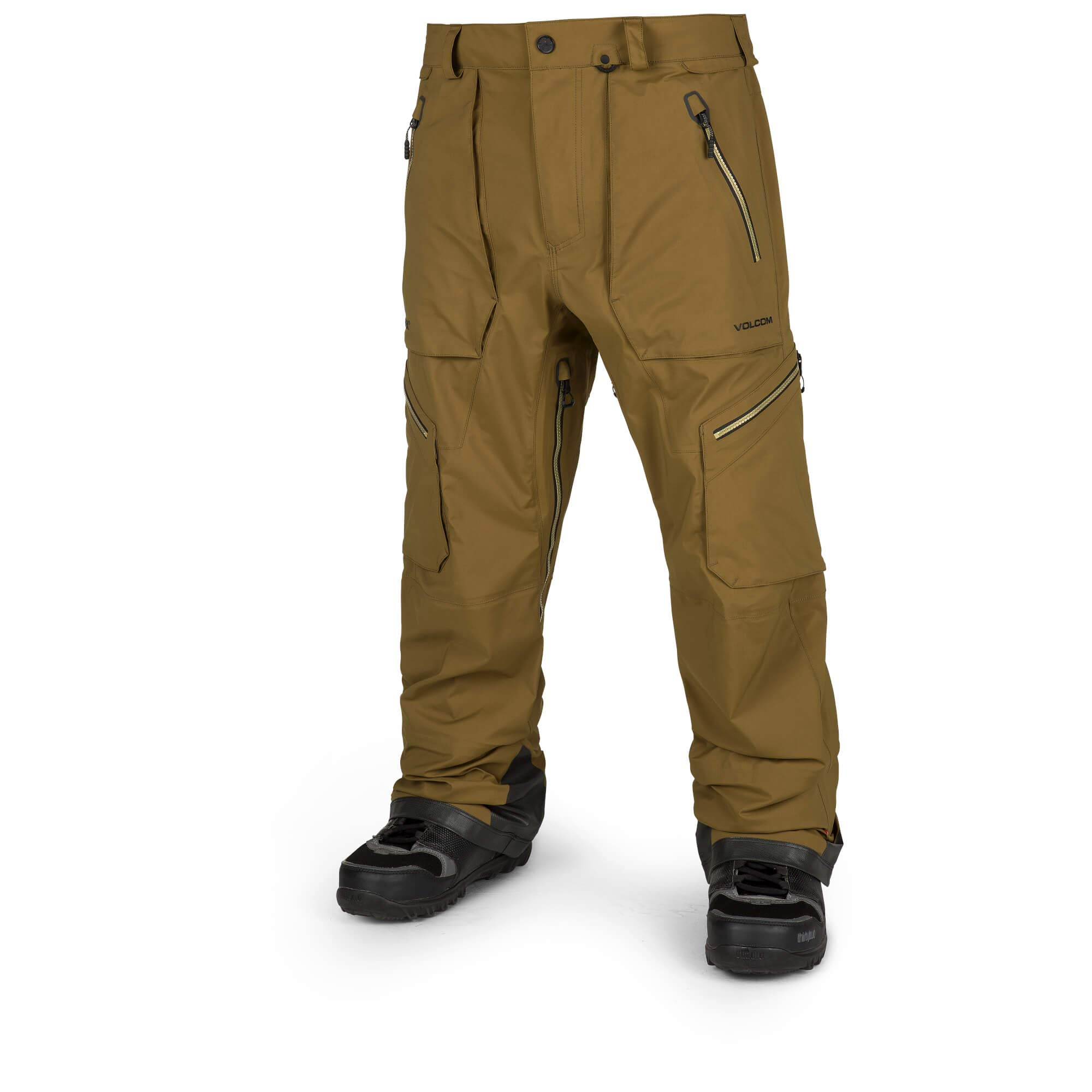 Volcom Men's Guch 3 Layer Stretch Gore-Tex Pant, Moss Small