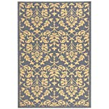 """Safavieh Courtyard Collection CY3416-3103 Blue and Natural Indoor/ Outdoor Area Rug, 5 feet 3 inches by 7 feet 7 inches (5'3"""" x 7'7"""")"""