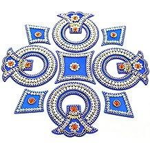 AMBA HANDICRAFT Rangoli / home decor/ Diwali / gift for home / interior handcrafted / floor stickers / wall stickers / wall decoration / Designer Stencil / new year gift / party.24 DESGIN (Desgin 48)